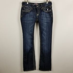 Express RERock Barely Boot Cut Dark Wash Jeans 6